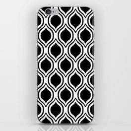 Black and white Alabama pattern university of alabama crimson tide college iPhone Skin