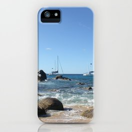 Sailing Boats at the Baths, BVI iPhone Case