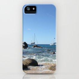 Sailing Boats at the Baths, BVI iPhone Case