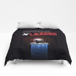 Afros And Lazers Comforters