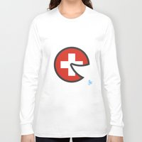 switzerland Long Sleeve T-shirts featuring Switzerland Smile by onejyoo