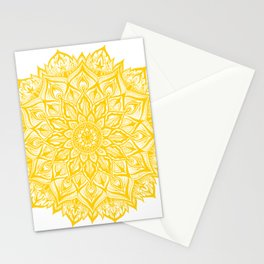 Snowflake-Yellow Stationery Cards