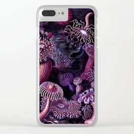 Actiniae in Purple Clear iPhone Case