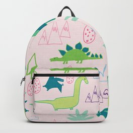 Dino Fun land Black Backpack