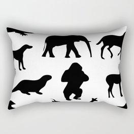 Animal Collage 2 Rectangular Pillow