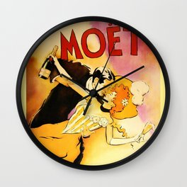 Vintage Moet Champagne Advertising Wall Art Wall Clock