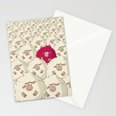 Sheep Pattern | Pink Stationery Cards
