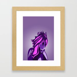 Pony in the Pink Framed Art Print