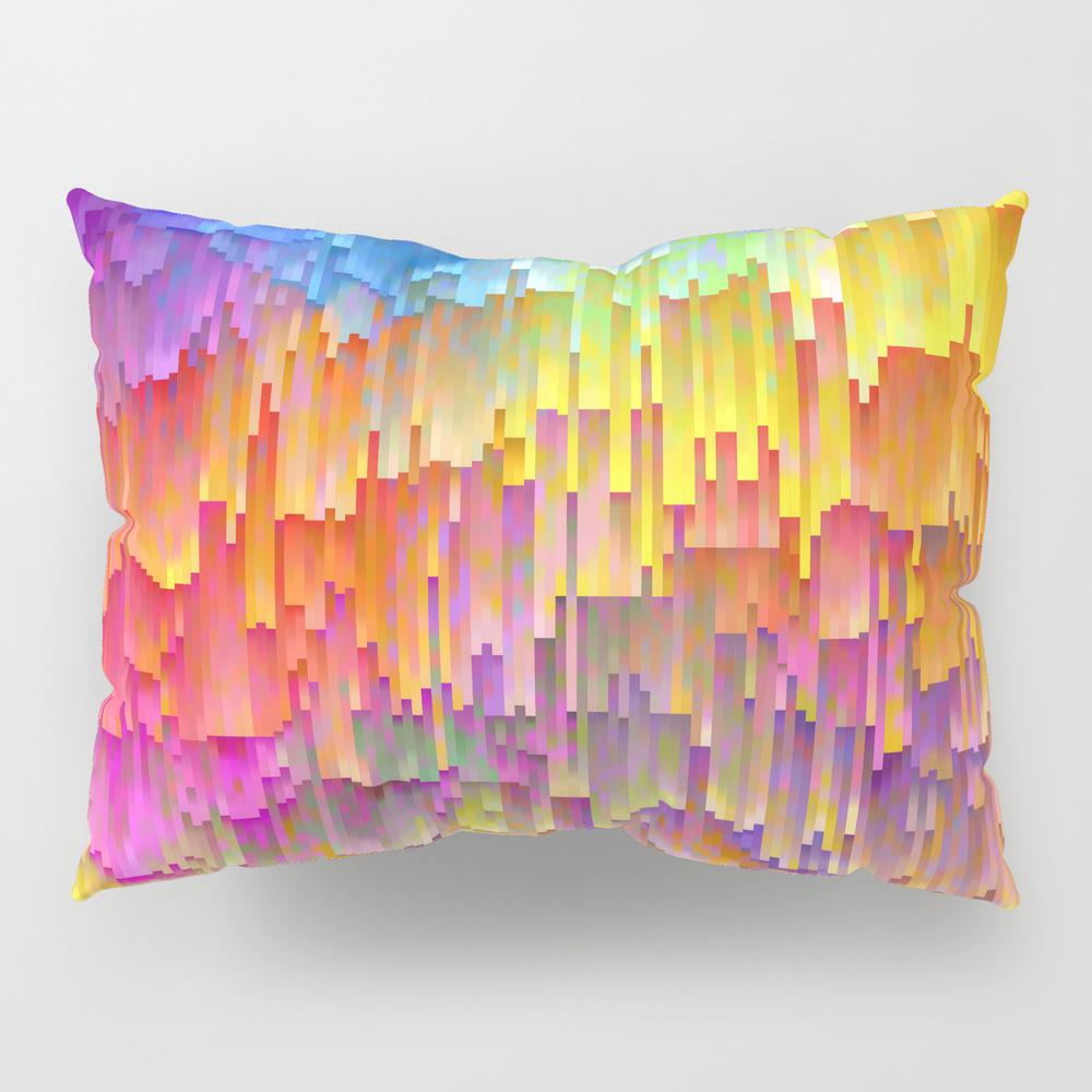 Vibrant Rainbow Cascade Design Pillow Sham by Artaddiction45 PSH8918794