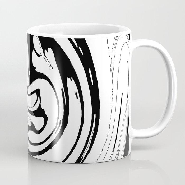 Black, White and Graphic Paint Swirl Pattern Effect Coffee Mug