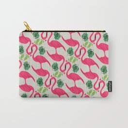 Pink flamingo Favola Carry-All Pouch