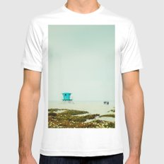 Afternoon Haze MEDIUM Mens Fitted Tee White
