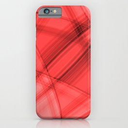 Angular strokes with purple diagonal lines from intersecting bright stripes of light.  iPhone Case