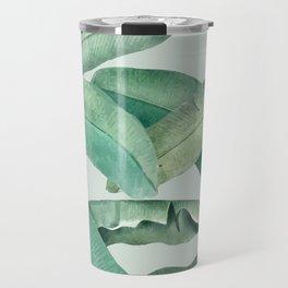 banana leaves light green Travel Mug