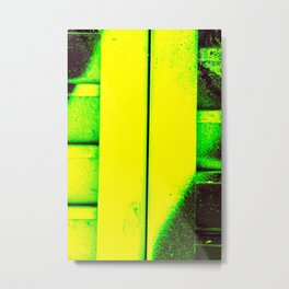 Black, Green and Gold Metal Print