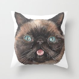 Der the Cat - artist Ellie Hoult Throw Pillow