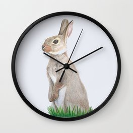 British Wildlife - Rabbit Wall Clock