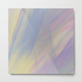 Retro Rainbow Series Two   80s Inspired Painting, vintage aesthetic wall art Metal Print