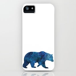 Watercolour Bear Blue iPhone Case