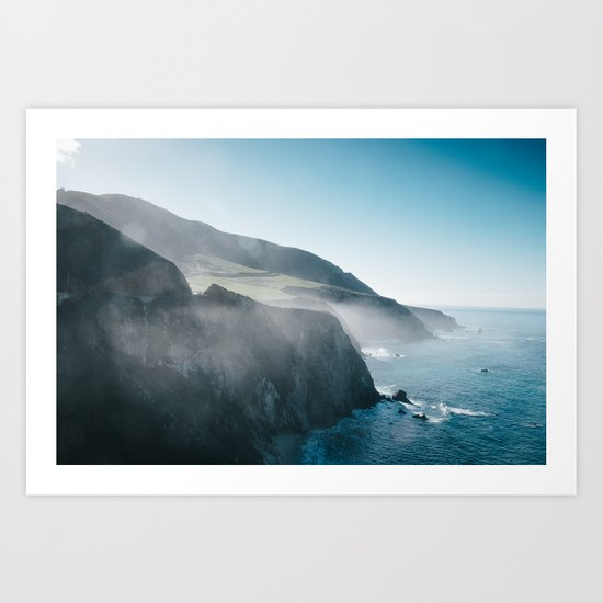 Sea Mist on the Big Sur Art Print