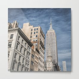 new york city empire state building Metal Print