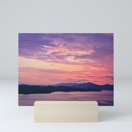 Pastel sunset Mini Art Print