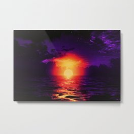 Fire purple cloud by #Bizzartino Metal Print