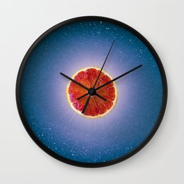 Orange sky 4 Wall Clock