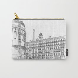 Parisian street sketch - illustration Carry-All Pouch