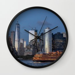 NYC and Staten Island Ferry Wall Clock