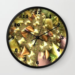 Christmas Glass Ribbons Wall Clock