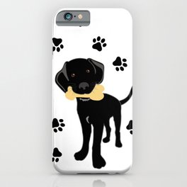 Black Labrador Retriever Puppy iPhone Case