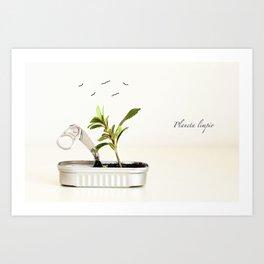Planeta limpio Art Print
