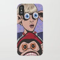 rock and roll iPhone & iPod Cases featuring Rock and Roll Martian by turddemon