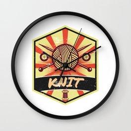 Knitting Propaganda   Knit Wool Hobby Wall Clock