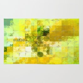 Pale Yellow Poinsettia 1 Abstract Circles 2 Rug