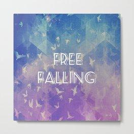 Free Falling Typography Metal Print