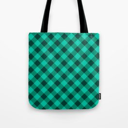 Gingham - Forest Tote Bag