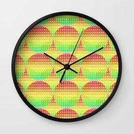 rainbow circles Wall Clock