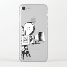 vintage filming Clear iPhone Case
