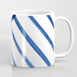 Watercolor lines pattern | Navy blue Coffee Mug