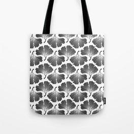 Ginkgo Leaves in Black & White Tote Bag