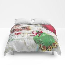 classic santa - vintage nostalgic American classic Christmas Comforters