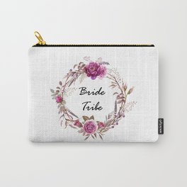 Bride Tribe Wreath Carry-All Pouch