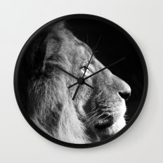 Pretty Kitty in Black & White Wall Clock