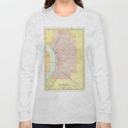 Vintage Map of St Joseph Missouri (1897) Long Sleeve T-shirt