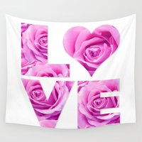 all you need is love Wall Tapestries featuring Love is all you need by LebensART