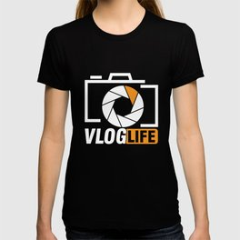Video Blog Camera Documentary Stories Filming Reality Gift Vlog Life T-shirt