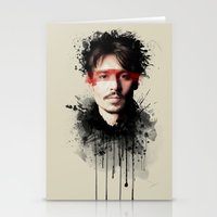 johnny depp Stationery Cards featuring Johnny Depp by Brigitta