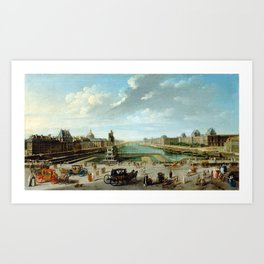 Nicolas-Jean-Baptiste Raguenet A View of Paris from the Pont Neuf Art Print